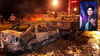 Vídeo mostra carro de cantor sertanejo em chamas após acidente; assista