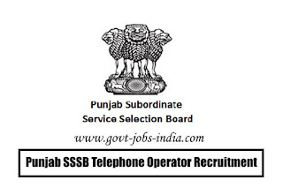Punjab SSSB Telephone Operator Recruitment 2020
