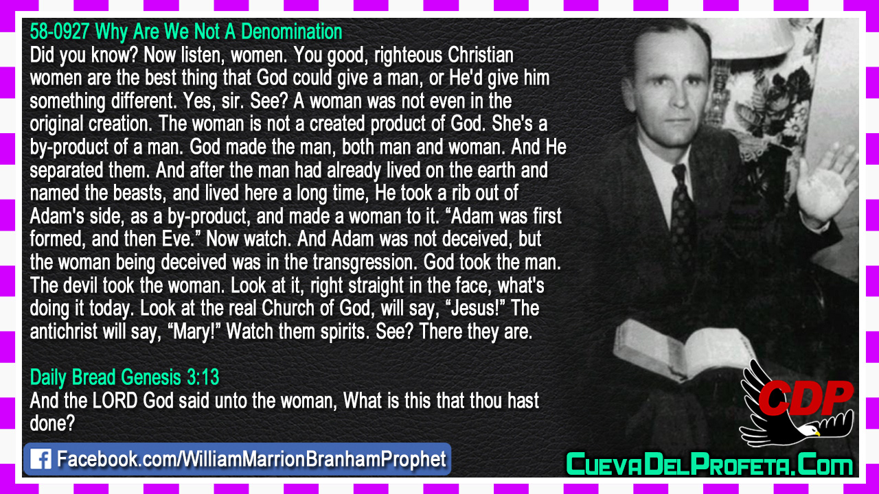The real Church of God & The antichrist - William Branham