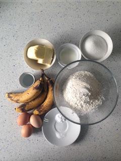 Ingredientes bizcocho de plátano