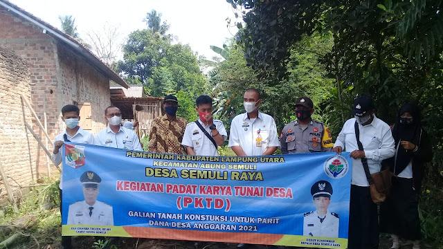 Desa Semuli Raya Awal   Kegiatan Fisik DD Dengan Program PKTD