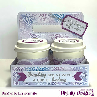 Stamp/Die Duos: Perk Me Up, Hug in a Mug, Stamp Sets: Tag Sentiments 1, Custom Dies: Circle, Pierced Circles, Double Stitched Circles, Pennant Flags, Double Stitched Pennant Flags, Mini Cups & Mugs, Christmas Dove (snowflake), Tag Sentiments, Milk Carton Holder, Mini Coffee Cup Wrapper & Layers, A Gift for You (Tag), Paper Collection: Christmas 2019, Other: Mini Coffee Cups