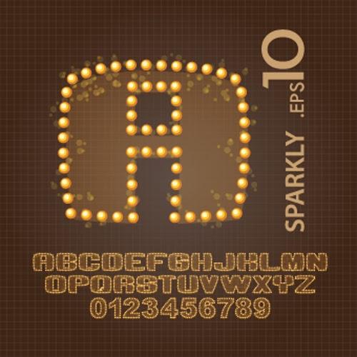 Sparkly Vector Alphabet
