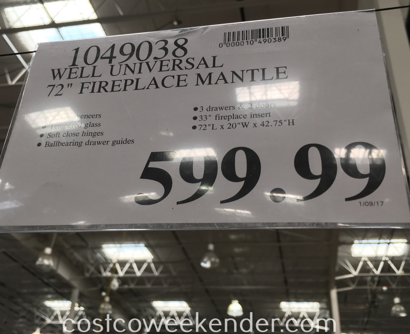 Deal for the Well Universal Electric Media Fireplace at Costco