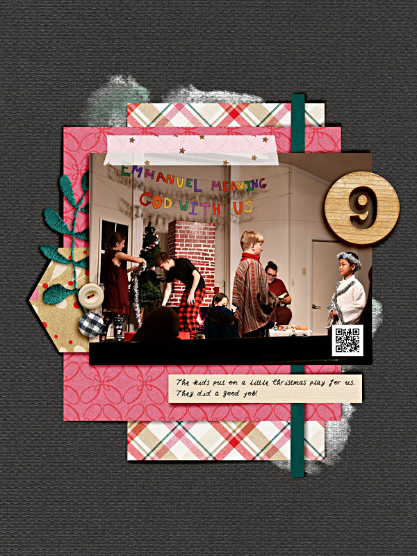 Memory 9 - Digital Scrapbook Christmas Page