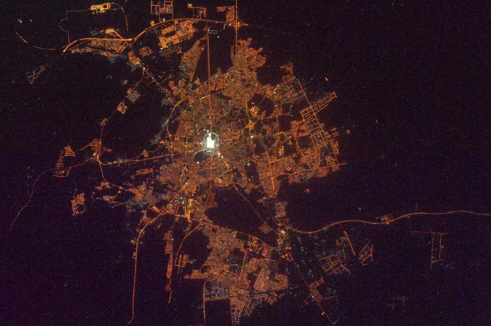 Picture of Madinah from space