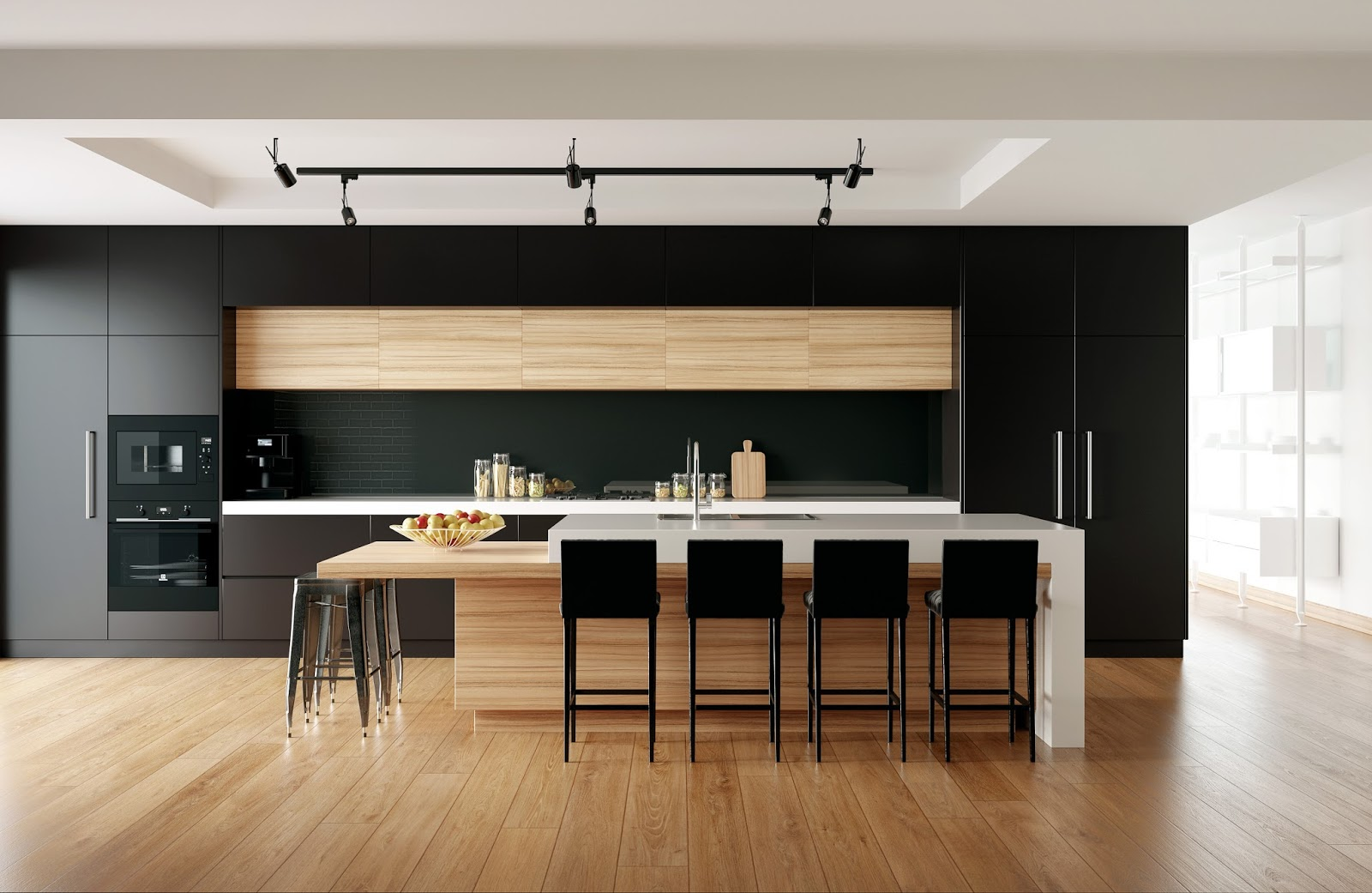Black Kitchen Render   Scene To Learn More About Interior Lighting