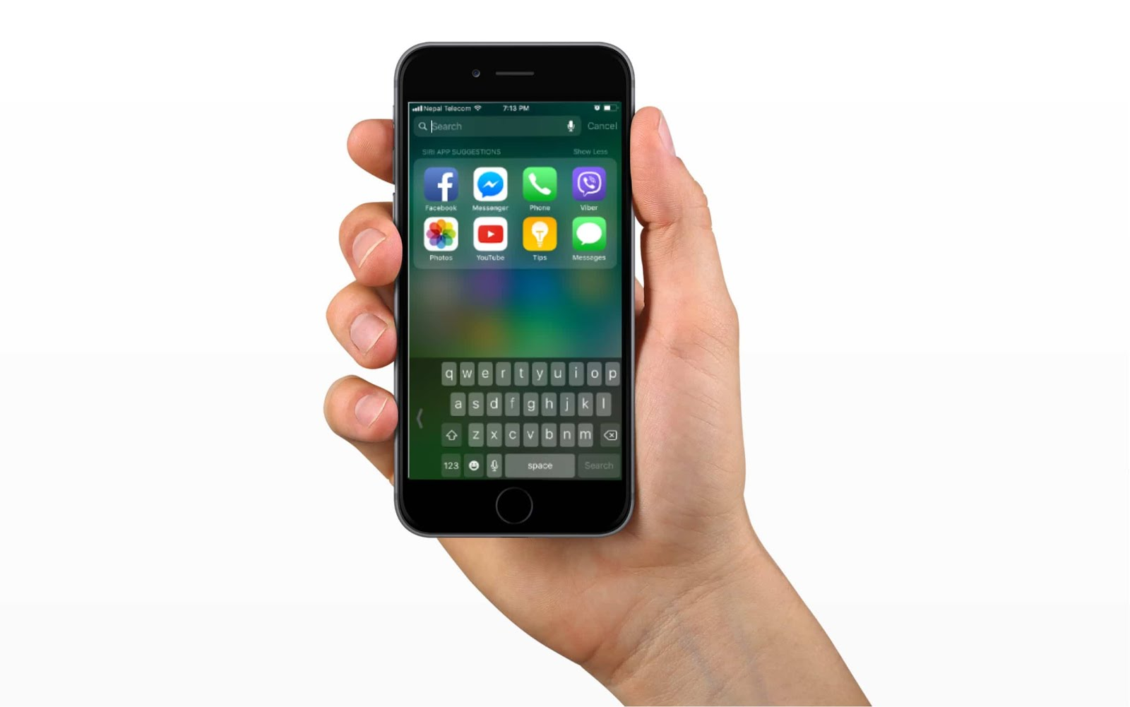 how to use your iphone keyboard with one hand in ios 11. Black Bedroom Furniture Sets. Home Design Ideas