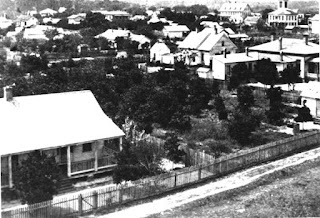 Photo showing aerial view of Palatka in 1800s