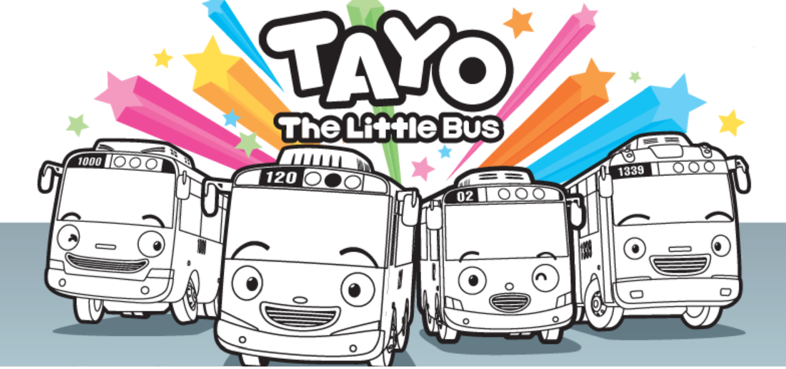 Gambar Mewarnai Tayo The Little Bus Bis Kecil Yang Baik Hati