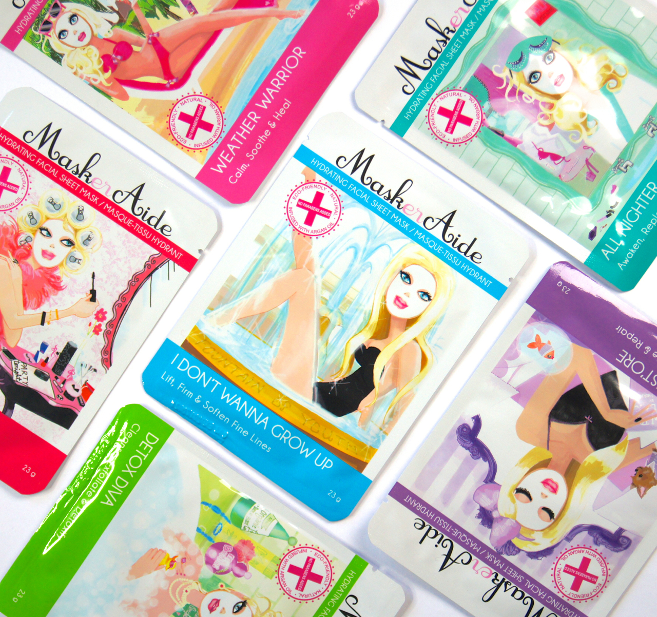 MaskerAide sheet masks review results a very radiant gift set