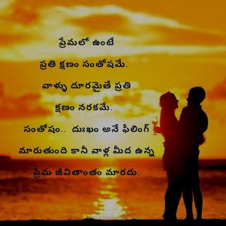 True love quotes in telugu.