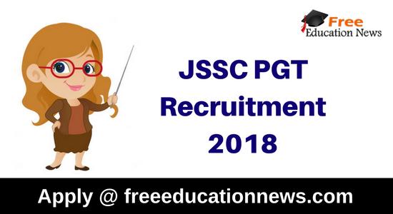 JSSC PGT Recruitment
