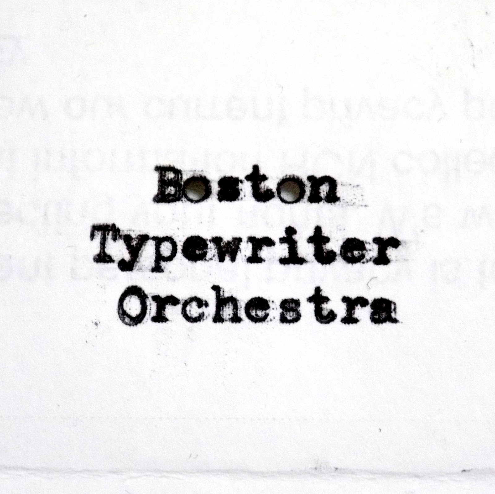 The Clacking Ratchet Sounds of The Boston Typewriter Orchestra