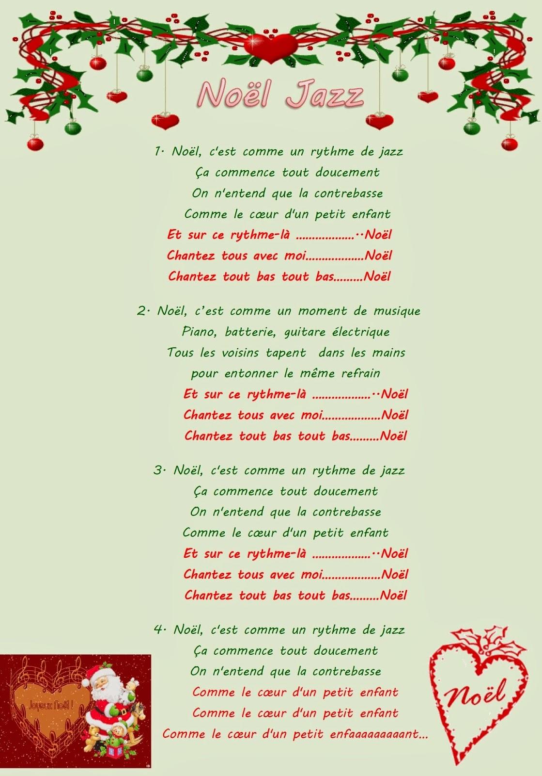 Noël C'est Comme Un Rythme De Jazz Paroles : noël, c'est, comme, rythme, paroles, Mademoiselle, SanDRillana:, Noël,, C'est, Comme, Rythme