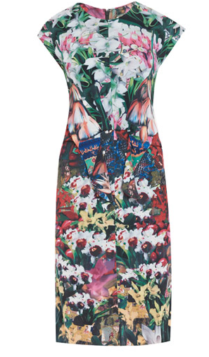 Kelly Brook, ISSA, Floral, Fruit, Print Dress, Miid, Bodycon