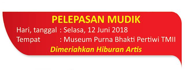 tanggal pemberangkatan Serunya Mudik Alfamidi 2018 dan pemberangkatan dari Jakarta