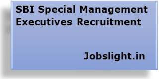 SBI Special Management Executives Recruitment 2017