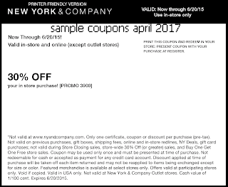New York And Company coupons for april 2017