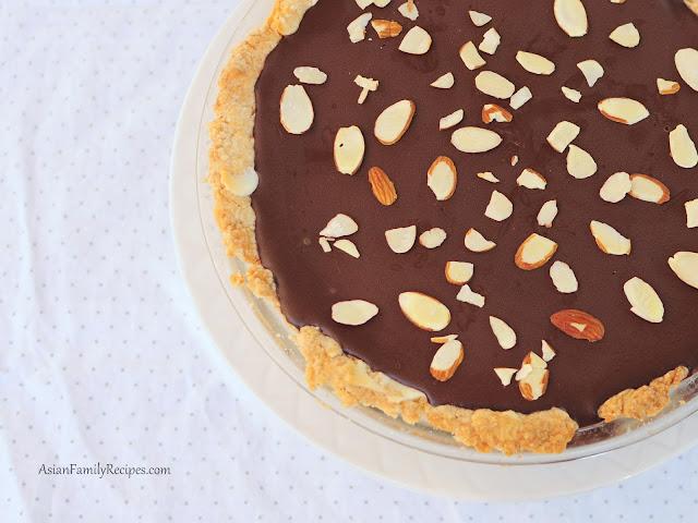 Cheesecake with Chocolate Ganache