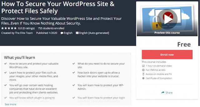 [100% Free] How To Secure Your WordPress Site & Protect Files Safely