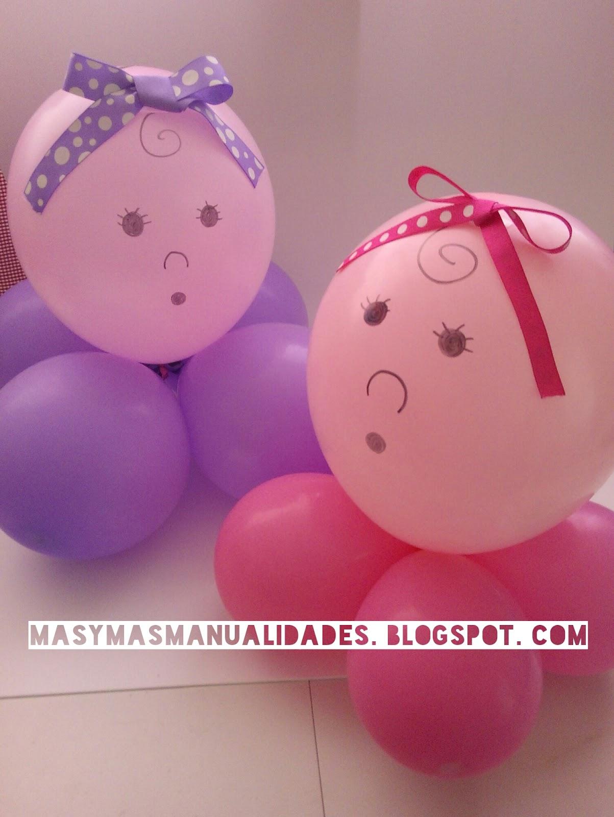 Mi Fiesta Creativa Centros de mesa con globos para un baby shower