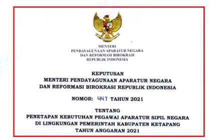 Formasi CPNS & PPPK Guru Kabupaten Ketapang Tahun 2021