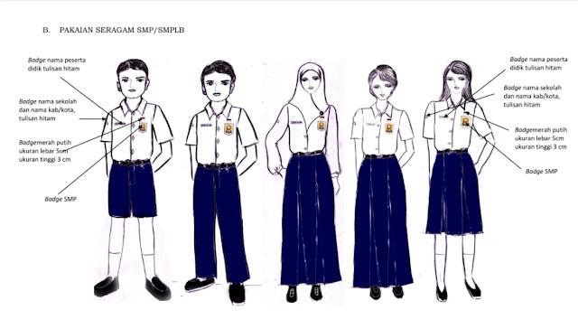 Tata cara Berpakaian Anak SMP dan sederajat
