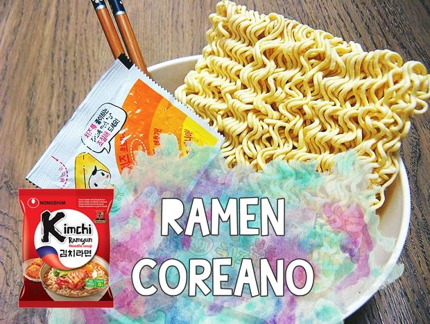 Comendo Ramen coreano pela primeira vez