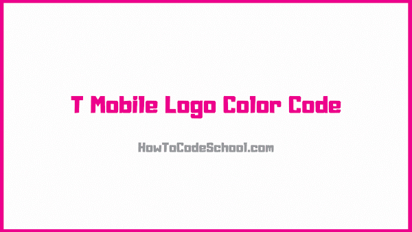 T Mobile Logo Color Code