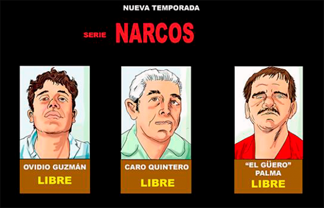 Ovidio Guzman, El Güero Palma y Caro Quintero inocente