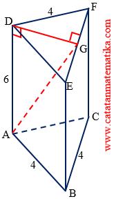 panjang AG pada prisma tegak ABDEFG