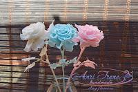 Одноцветные розы из полимерной глины