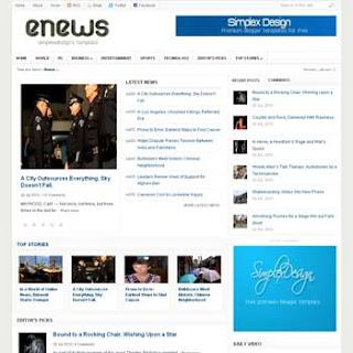 Simplex Enews Blogger Template - Gallery Blogger Templates
