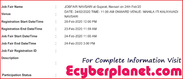 Navsari Job Fair Notification