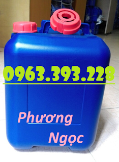 Can nhựa vuông đựng hóa chất, can nhựa HDPE 20L, can vuông 20 Lít vuông xanh
