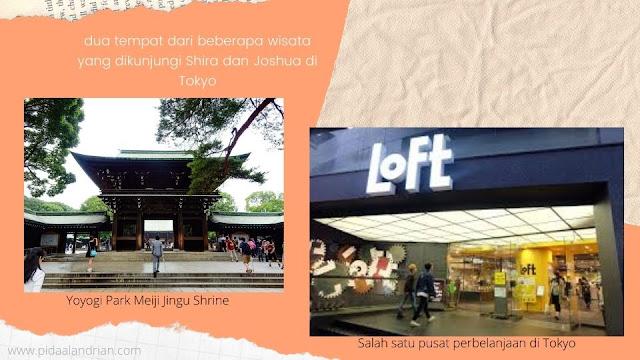 Tempat-tempat yang ada di buku Tokyo & perayaan kesedihan