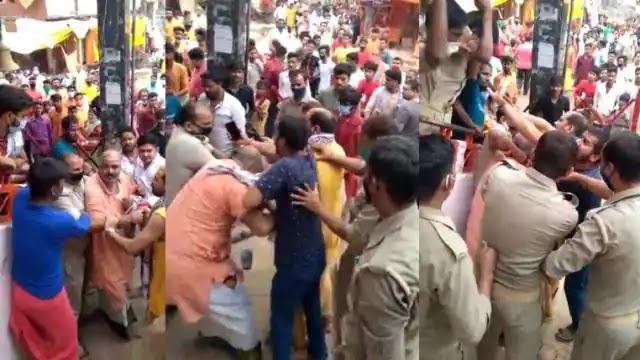 विंध्याचल में DM के परिवार को दर्शन पर विवाद, अमिताभ बच्चन के पुरोहित को पुलिस ने घेरकर पीटा