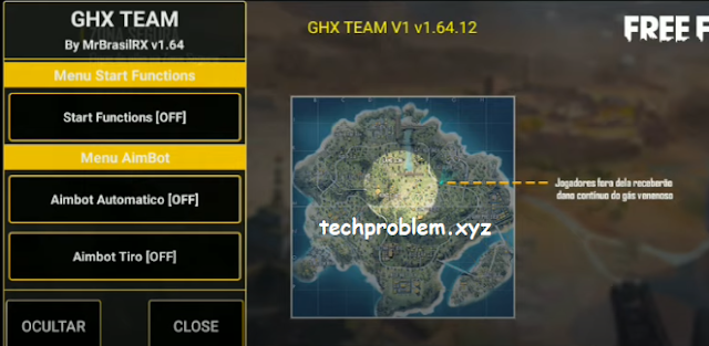 Free Fire Mod Menu GHX Team VIP Aimbot Telekill Headshot Esp Antiban