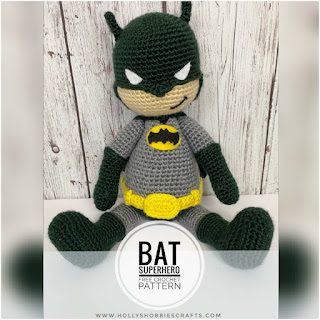 patron amigurumi Batman holly's hobbies