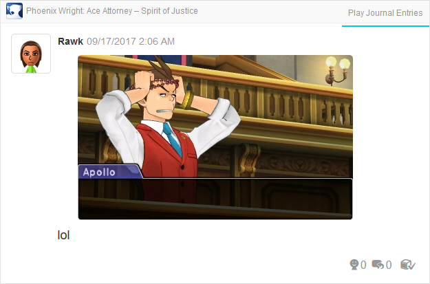 Phoenix Wright Ace Attorney Spirit of Justice Nahyuta beads on Apollo's head