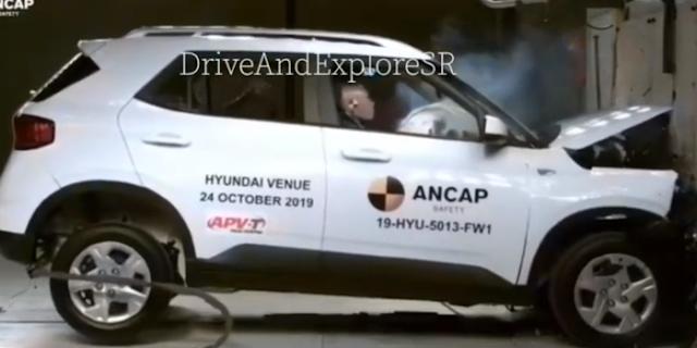 Hyundai Venue क्रैश टेस्ट में 4 स्टार रेटिंग, लेकिन बच्चों के लिए ज्यादा सुरक्षित नहीं