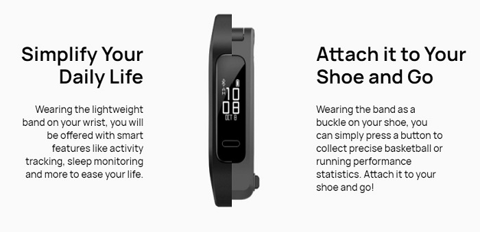 Huawei Band 4e You Can Clip To Your Shoe