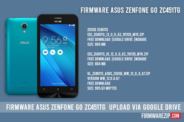 firmware asus zenfone go zc451tg