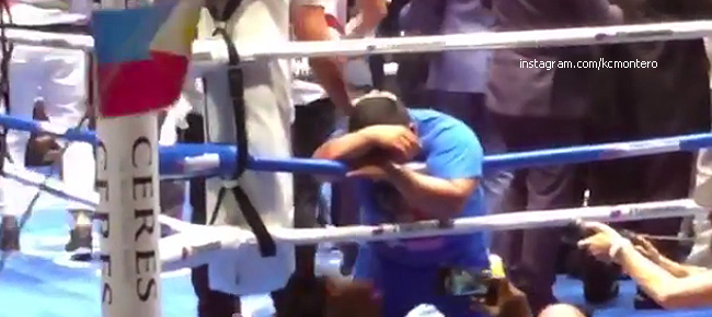 Pacquiao's coach Buboy Fernandez Tearful REACTION to Manny's TKO Win! (VIDEO)