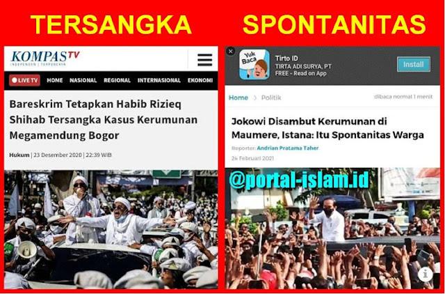 Demokrat: Ha6ib Ri2ieq Semestinya Bebas Murni, Jokowi Juga Bebas Murni Saat Kerumunan Di Maumere NTT