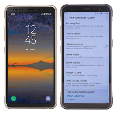Galaxy S8 Active Tutorial Advanced Security Settings