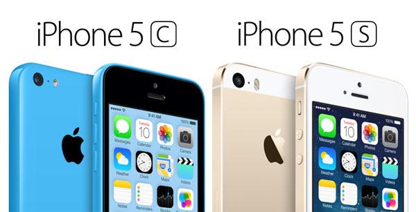 Os novos smartphones iPhone 5C e o iPhone 5S que foram anunciados em evento na sede da Apple na Califórnia.