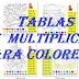 MULTIPLICACIONES (Imágenes para colorear).