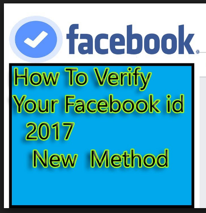 how to verify facebook account 2017